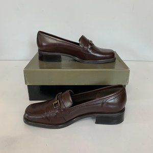NWB Danielle Brown Slip On Loafers Size 7.5M